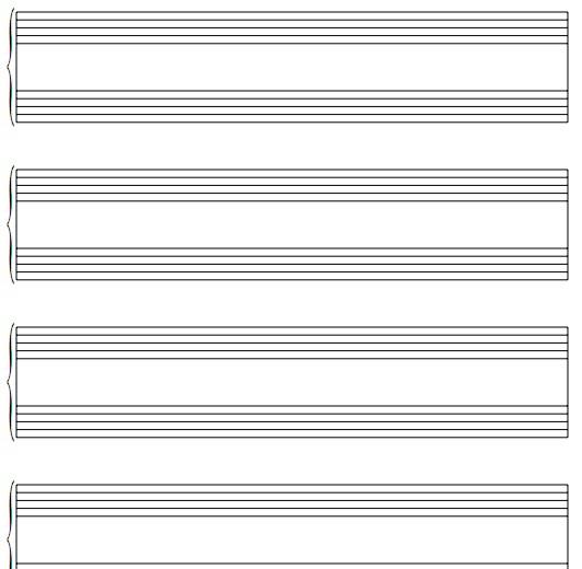 空白五线谱打印模板