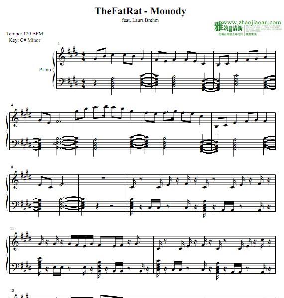 at Rat Monody钢琴谱