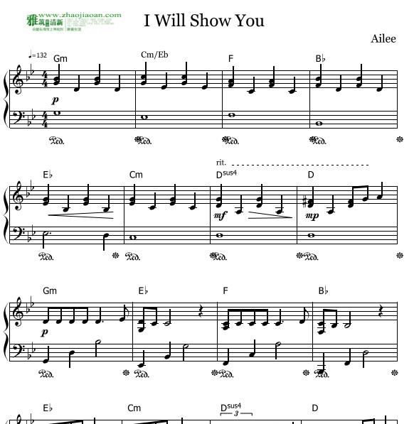 Ailee给你看钢琴谱 I will show you