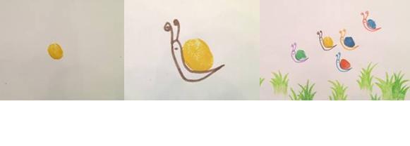 小班美术教案 五彩蜗牛大聚会图片