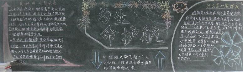 生命教育黑板报
