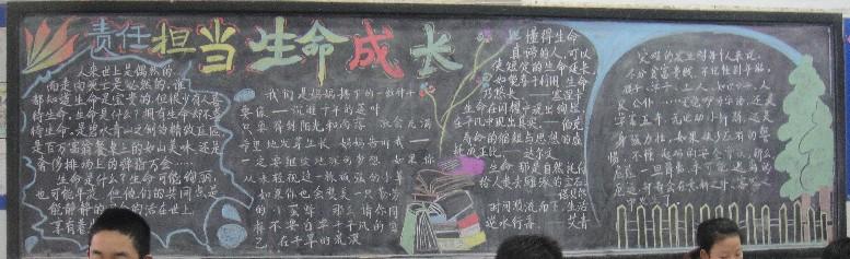 中学生黑板报:好习惯好未来