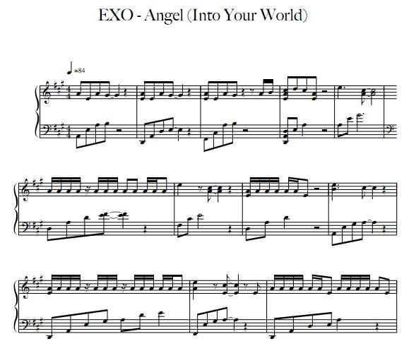 EXO 钢琴谱12首