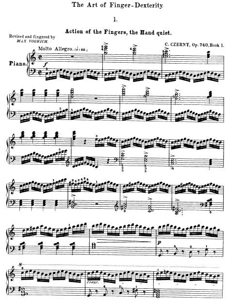 车尔尼740钢琴谱