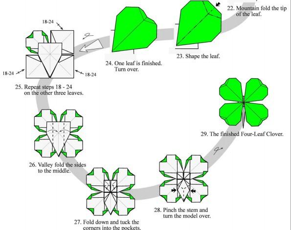四叶草折纸步骤