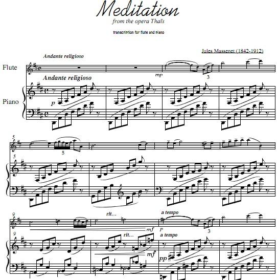 长笛谱 钢琴伴奏谱
