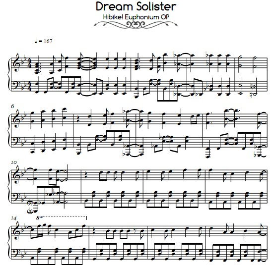 吹响!上低音号dream solister钢琴谱