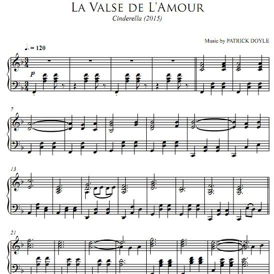 Valse de L Amour钢琴谱
