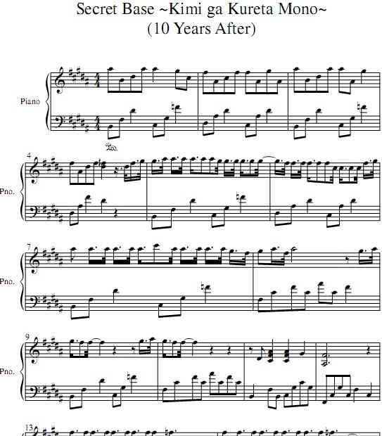 secretbase陶笛乐谱