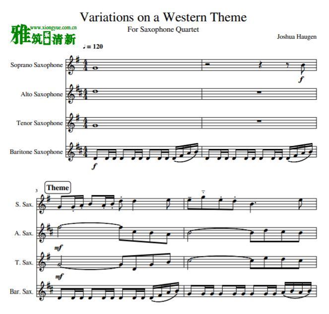 第二乐章,降a大调,双主题变奏曲式.