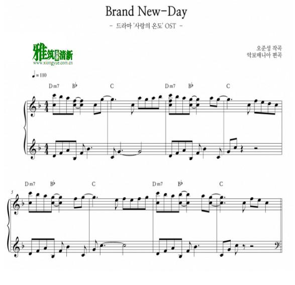 度情简谱笛子-爱情的温度 Brand New Day钢琴谱