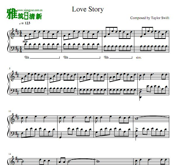Swift Love Story钢琴谱