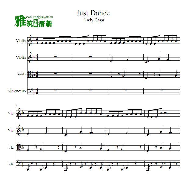t Dance弦乐四重奏谱