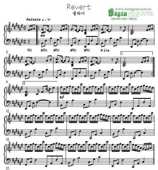 July Revert钢琴谱