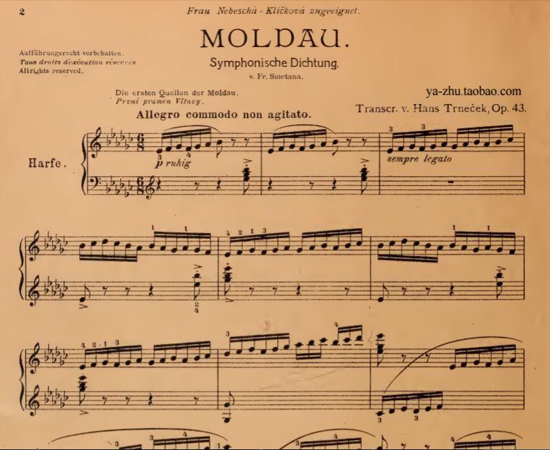 捷克民族交响音乐谱