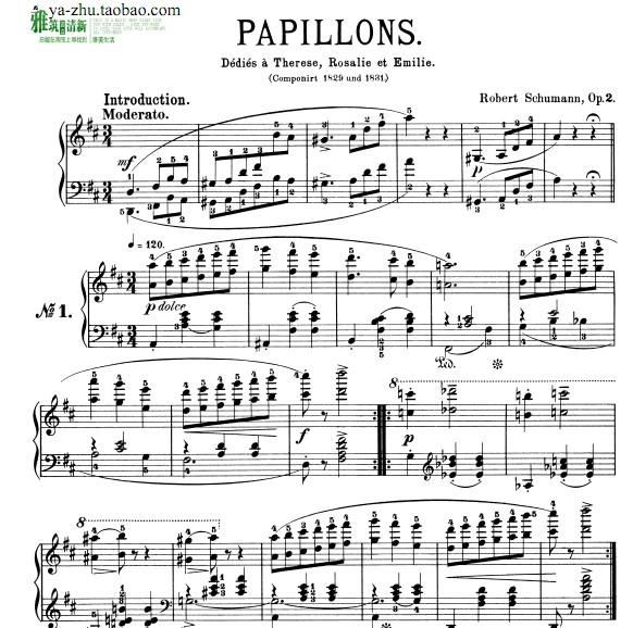.2钢琴谱 带指法