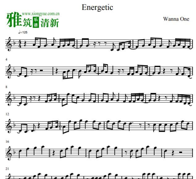 wanna one energetic小提琴谱