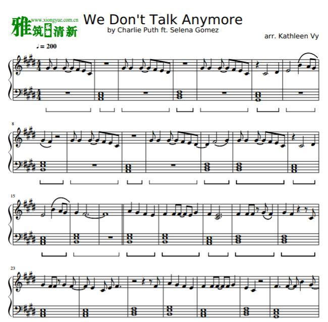 Anymore钢琴谱