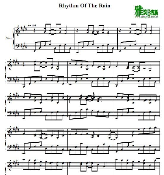 Rhythm Of The Rain钢琴谱