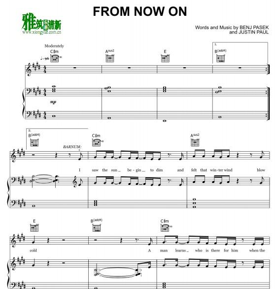 马戏之王 from now on钢琴谱