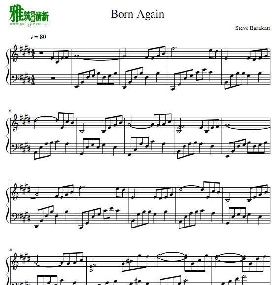 t Born Again钢琴谱
