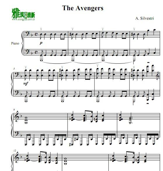复仇者 The Avengers钢琴谱