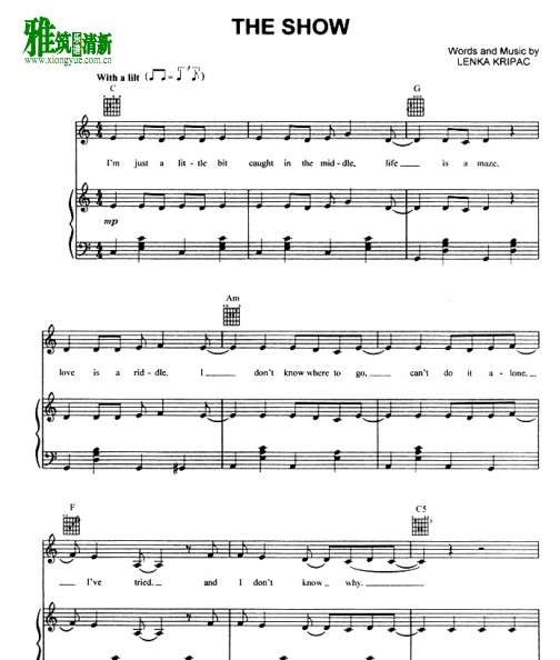 lenka - the show钢琴谱