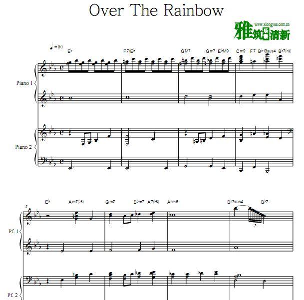 Judy Garland - Over The Rainbow四手联弹谱
