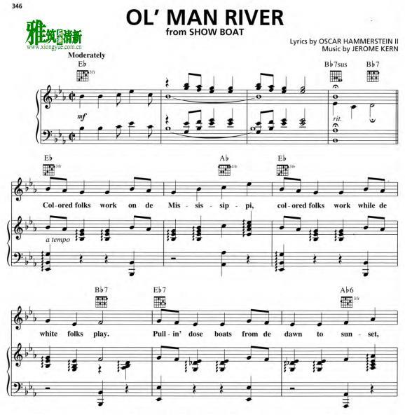宫 Show Boat 大河之歌Ol Man River钢琴谱
