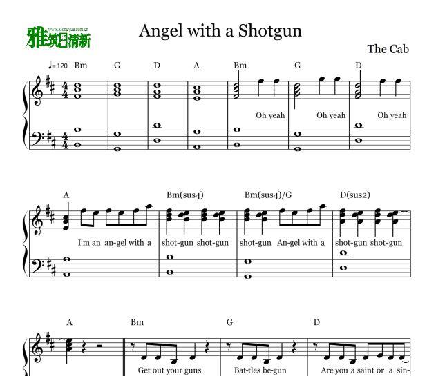 hotgun 钢琴谱 The Cab