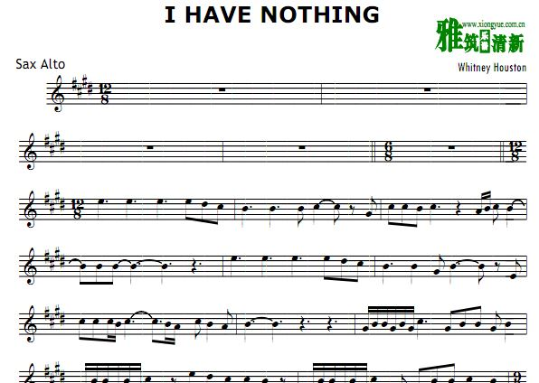 I Have Nothing 萨克斯谱