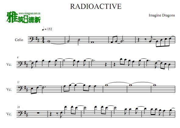 梦龙  Radioactive大提琴谱