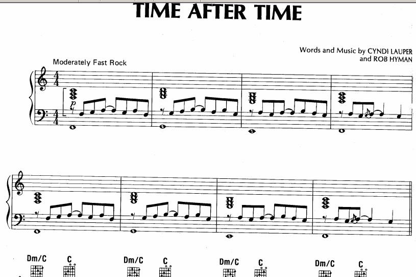 afterword钢琴曲谱-tertime钢琴谱-timeaftertime罗马音